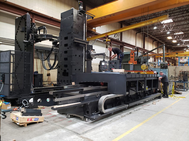Universe Machine Corporation sets up it's new Hyundai KBN 135C Horizontal Boring Mill.