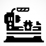 Vertical Turning Centers CNC Machine Icon